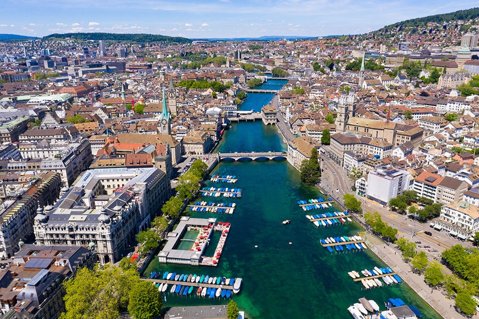 Zurich city in Switzerland