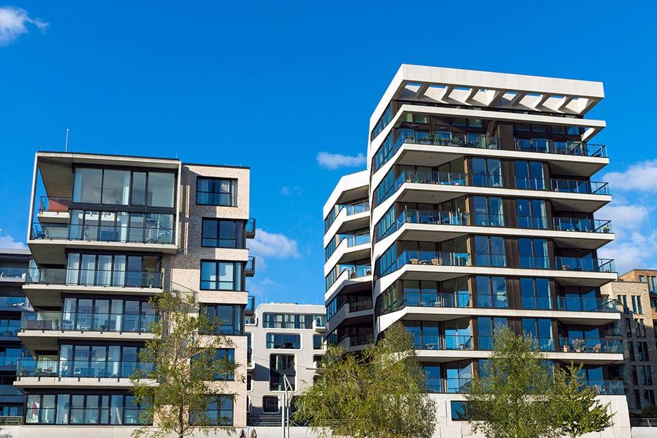 modern apartment houses