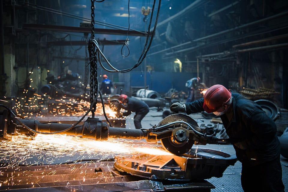 steel in factory