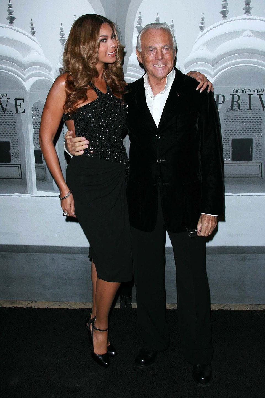 Beyonce Knowles with Giorgio Armani