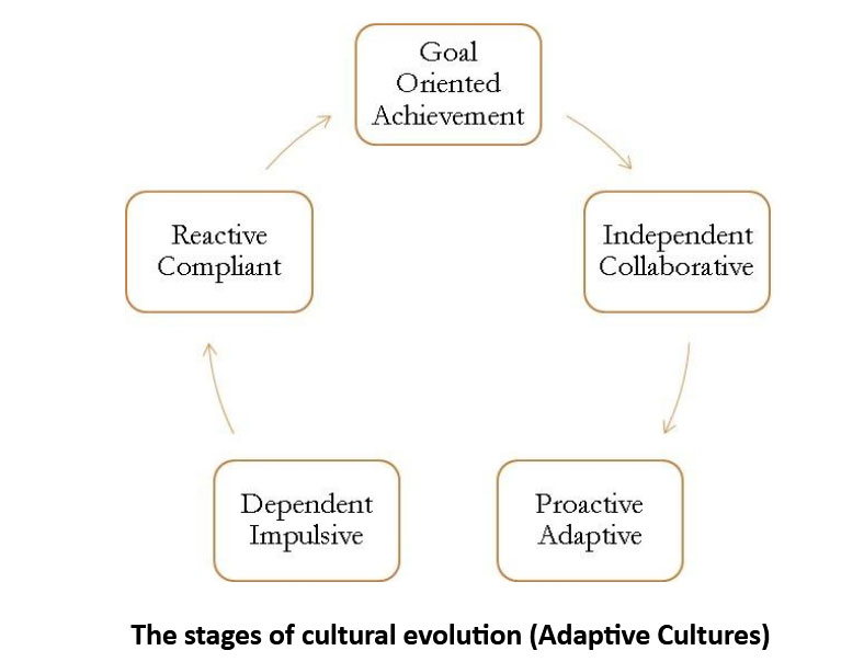 The stages of cultural evolution (Adaptive Cultures)