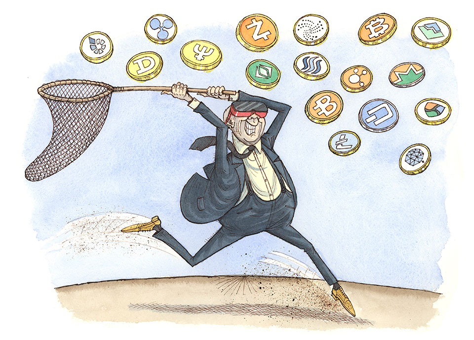History of Money Illustrations Cryptocurrency
