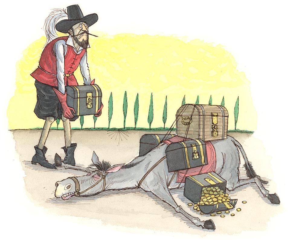 History of Money Illustrations conquistadors