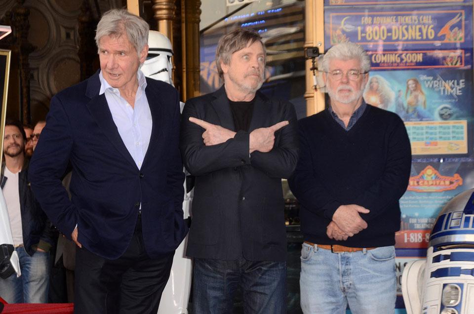Harrison Ford Mark Hamill George Lucas