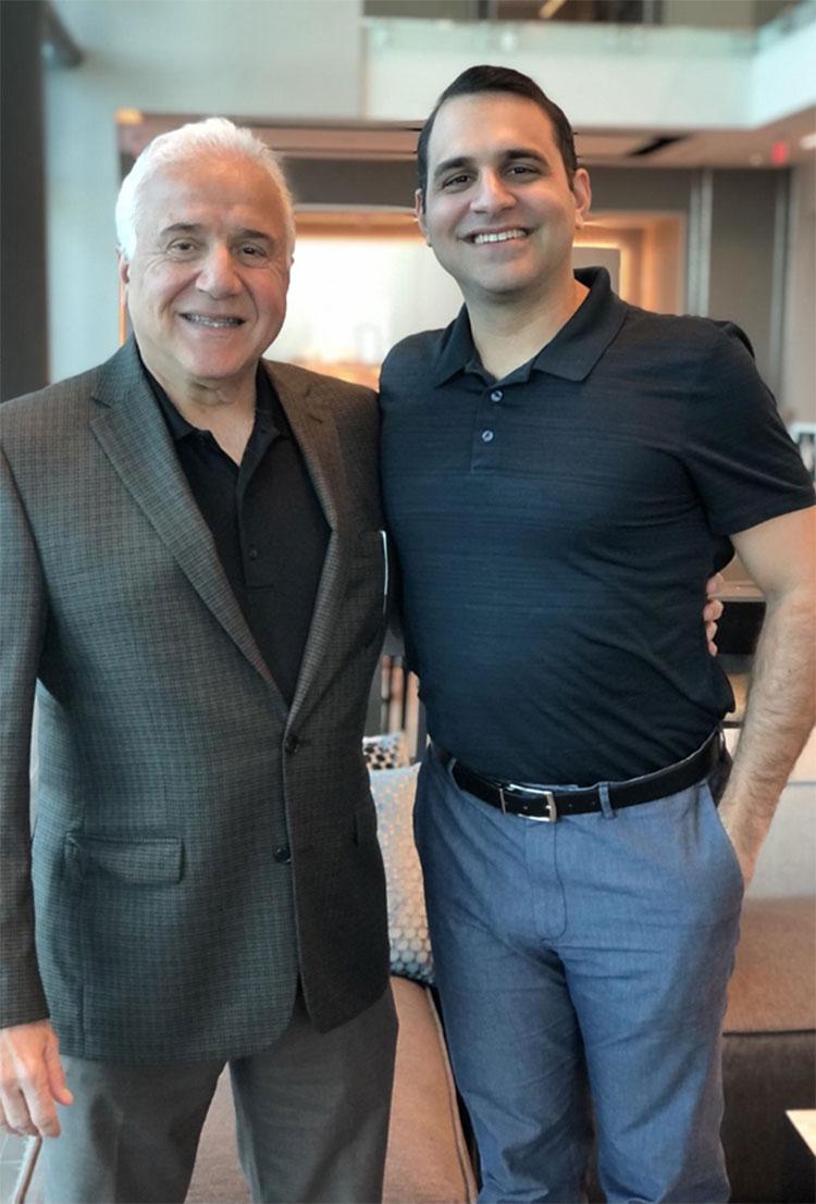 WaveCapital Partners' Ray Boorojian, Founder, Chairman and CEO, and Garrett Boorojian, CDO and Managing Partner. (SunTrust Plaza, Orlando, Florida, 2021)